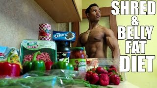 Shredding Diet - FULL DAY OF EATING - Meal By Meal