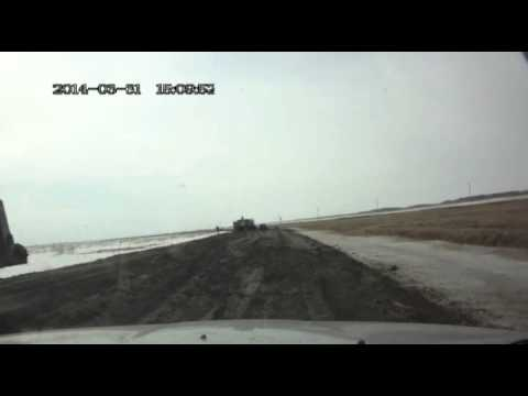 Дорога из Каргата в Маршанское апрель 2014 Новосибирская Область