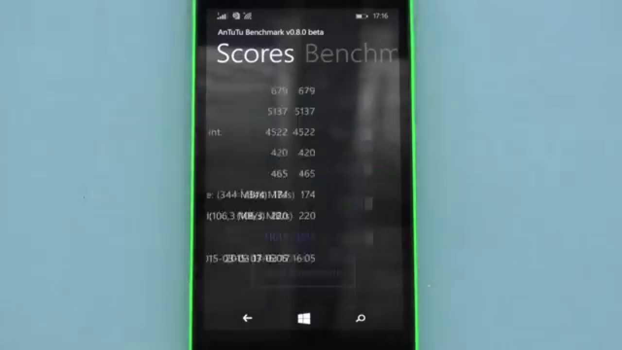 Microsoft lumia 535 Antutu benchmark