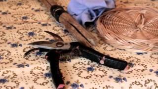 Плетеная люлька для внучки
