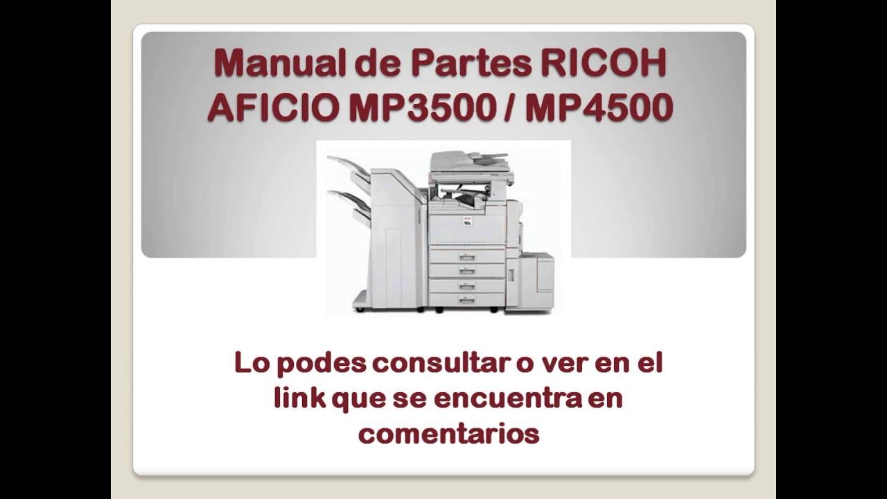Manual de partes ricoh aficio mp3500 mp4500 youtube publicscrutiny Image collections