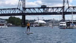 Paddling at Foss Harbor Marina