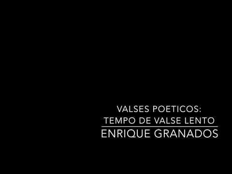Valses Poeticos: No.3 Tempo De Valse Lento - Granados