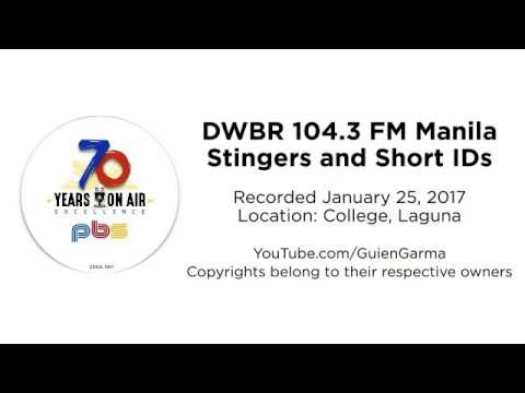 DWBR 104.3 FM Manila Stingers and Short IDs [Recorded January 25, 2017]