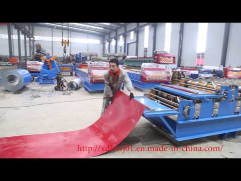 Double deck roofing sheet roll forming machine
