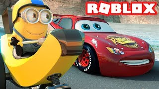 CARS 3 3D MOVIE IN ROBLOX! THE ADVENTURE OBBY