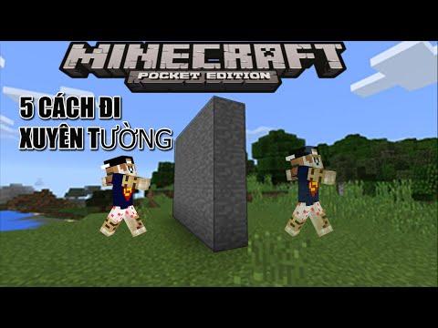 5 CÁCH ĐI XUYÊN TƯỜNG trong MCPE!!! - 0.14.1- Minecraft PE ( Pocket Edition )