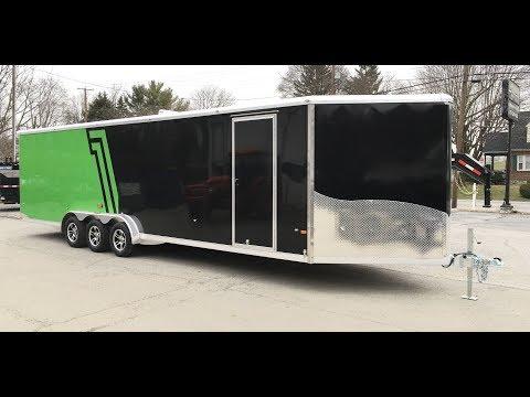 Neo NASX 7.5x33' Aluminum Enclosed Snowmobile Trailer 9990# GVW