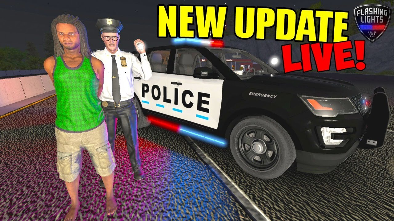 NEW LIGHTING UPDATE ON PUBLIC SERVER (Live-Stream) FL POLICE FLASHING LIGHTS GAME UPDATE
