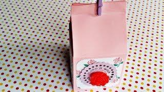 Basteln: Milch-Geschenkverpackung mit 3D Rose / DIY