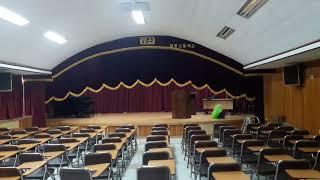 학교강당커튼