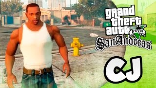 GTA 5 Моды: San Andreas  в GTA 5 - CJ (carl johnson)