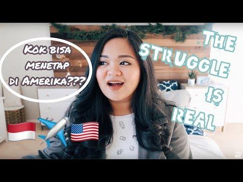 CERITA LENGKAP GIMANA BISA TINGGAL DI AMERIKA   MY STRUGGLES + TIPS❤️   Story Time!