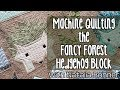 Capture de la vidéo Fancy Forest Quilt - Hedgehog Block - Machine Quilting By Natalia Bonner