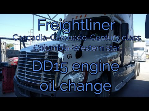 Freightliner Cascadia DD13 DD15 DD16 engine oil change explained OM 471 472  473 MERCEDES BENZ