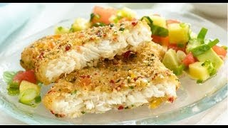 Macadamia Nut Crusted Snook With Mango, Basil And Acorn Squash