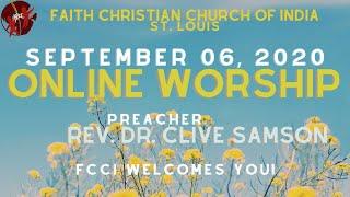 FCCIndia Online Worship 09/06/2020 | FCCI St. Louis