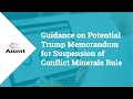 [Webinar] Guidance on Alleged Executive Order for Dodd-Frank Section 1502
