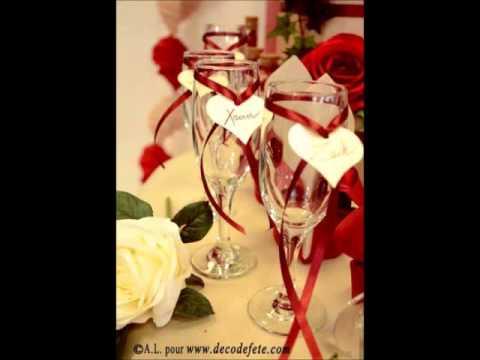 D coration de table en rouge passion youtube - Deco table rouge et blanc ...