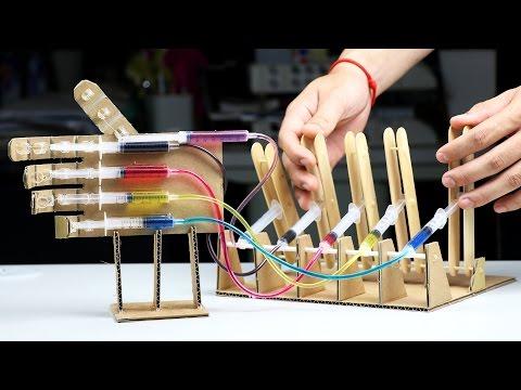 Amazing Syringe Robot Hand DIY