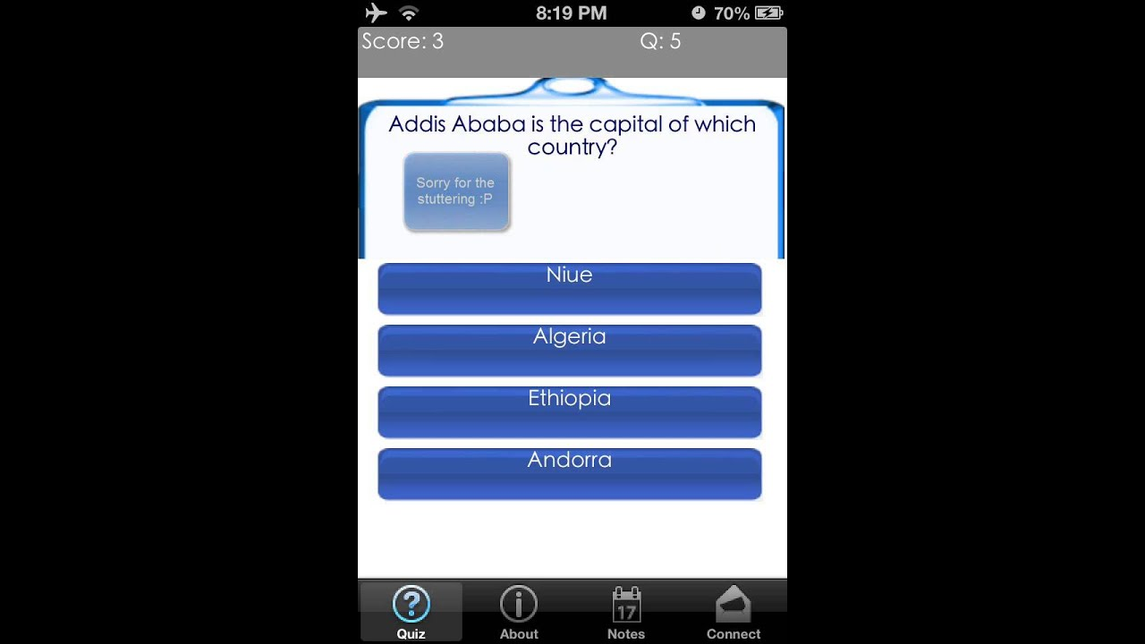 Countries and Capitals Mobile App Quiz Game For iPhone, iPad, Android and  Kindle Devices