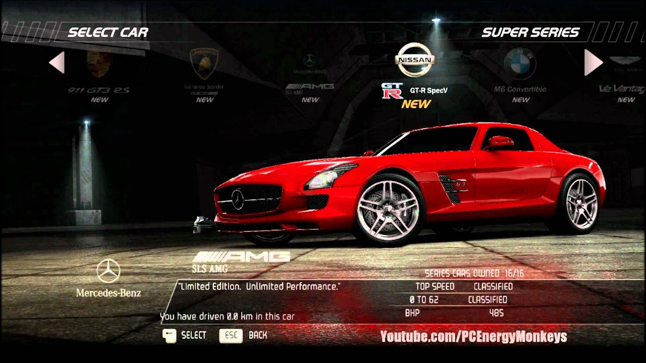 Need For Speed Hot Pursuit  Car List