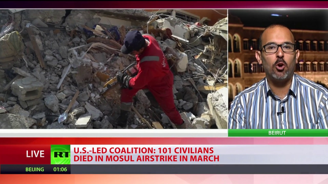 Pentagon shifts blame to ISIS for 100+ civilians killed during US airstrike in Mosul