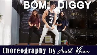 Bom Diggy | Zack Night | Jasmin Walia | Aadil Khan Choreography | Girl Style Dance