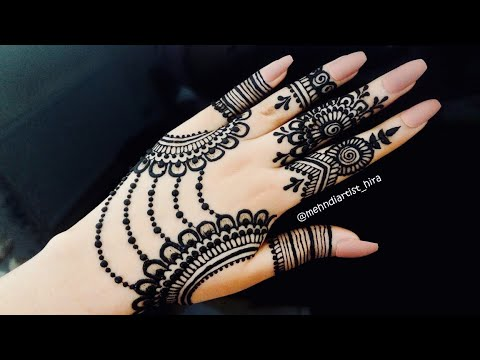 Trendy Stylish Girly Henna Jewellery Simple Easy Party Mehndi Design For Hands For Eid Weddings 2018