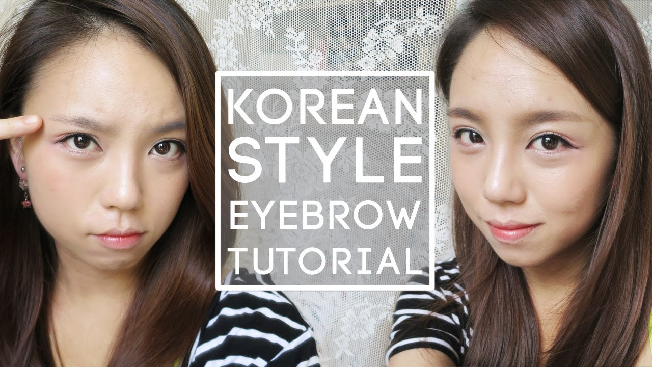 How To Korean Style Straight Eyebrow Tutorial Youtube
