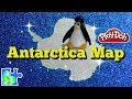 ANTARCTICA MAP! || South Pole || Play-Doh Puzzle Stop Motion! || Continents of the World