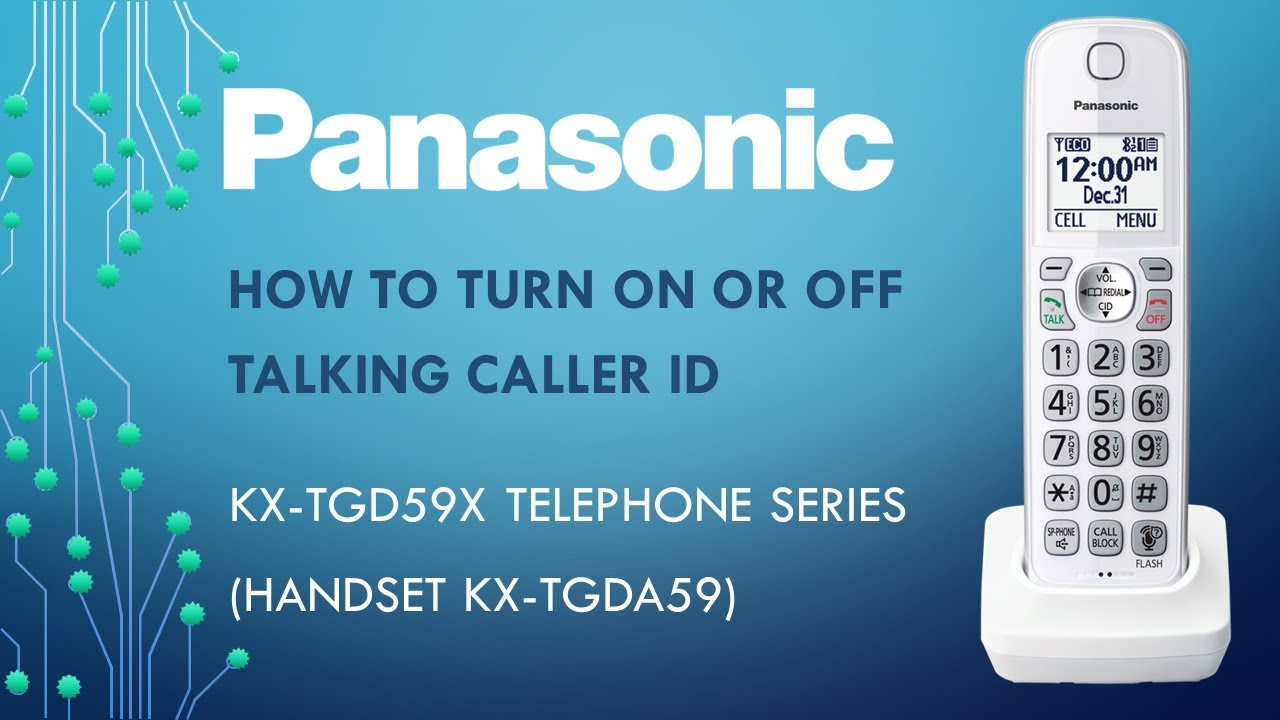 how to turn off caller id on iphone panasonic kx tg59x telephone series how to turn on or 21137