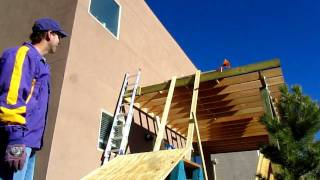 How To Get 3/4 Inch Plywood On A Roof By Yourself