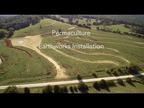 Hawk's Journey Farm Permaculture Earthworks Installation