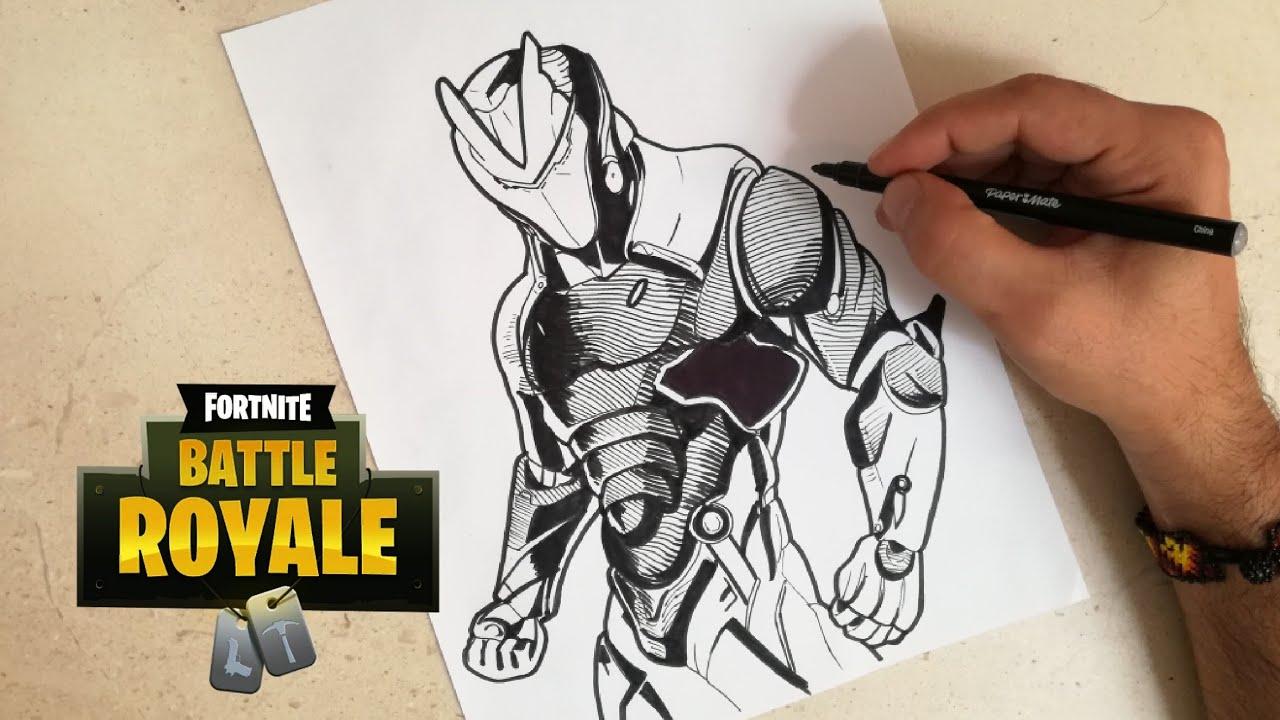 Dibujos Para Colorear De Fortnite: COMO DIBUJAR A OMEGA DE FORTNITE