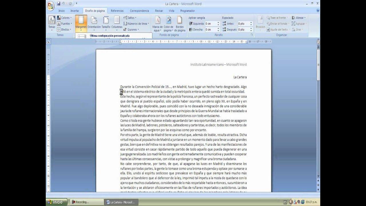 Perfecto Reanudar En Word 2010 Friso - Ejemplo De Colección De ...