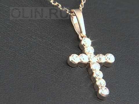 крестики с камнями фото женские