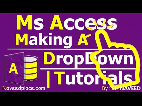 Ms Access Tutorial | Making A Dropdown From Another Table