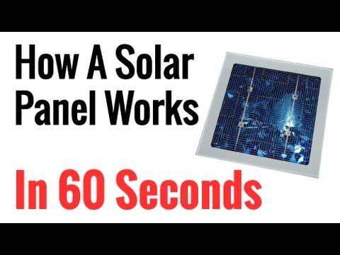 How Solar Panels Work In 60 Second Crash Course