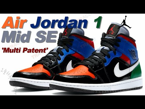 Air Jordan 1 Mid SE 'Multi Patent'