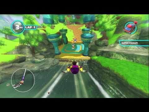 Sonic & Sega All Stars Racing Transformed - Dream Valley with NiGHTS