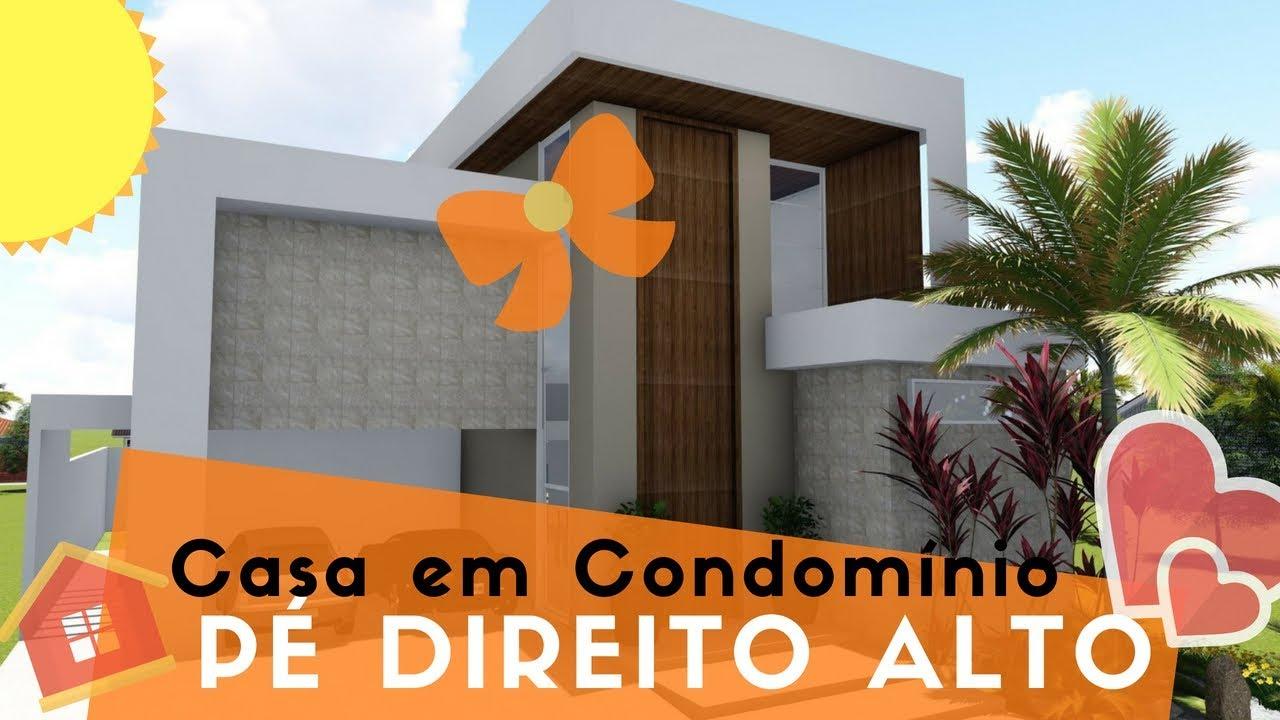 Projeto em 3d sobrado em condom nio youtube for Casas 3d