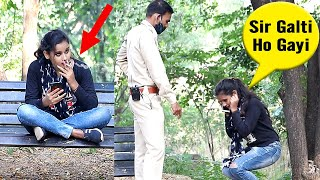 Fake Police Throwing Girl's Cigarette Prank | Bhasad News | Pranks in India 2020