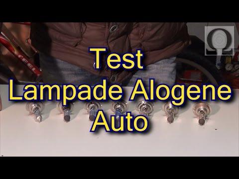 test prova recensione lampade alogene auto h7 quale fa piu' luce