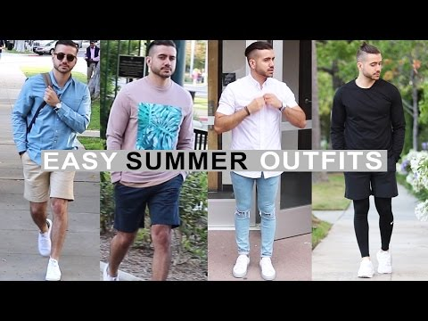 4 Easy Summer Outfits for Men 2016 | Men's Fashion & Style | Alex Costa