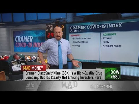 Jim Cramer swaps three stocks in the Cramer Covid-19 Index