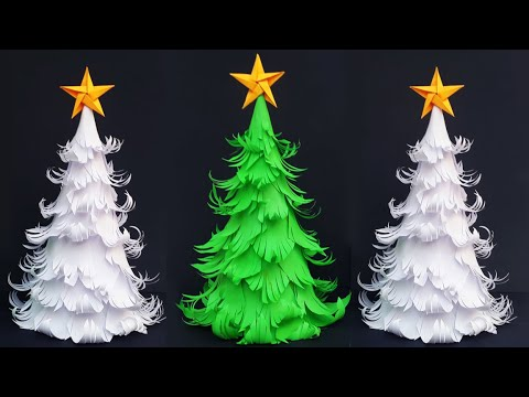 DIY Paper Christmas Tree | How to Make 3D Christmas Tree | 3D Paper Xmas Tree Decorating Ideas