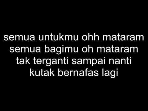 Untukmu Mataram (lirik)