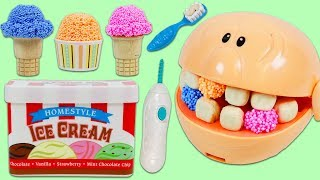 Download Feeding Mr. Play Doh Head Play Foam Ice Cream and Visiting the Dentist!