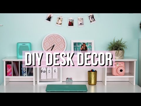 How to Decorate Your Desk + DIY Tumblr Decor
